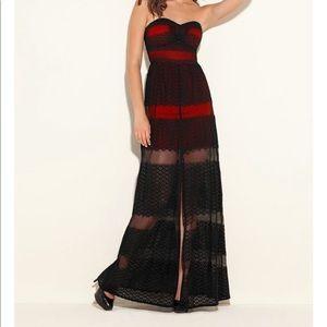 Guess Mattea Strapless Sweetheart Lace Dress